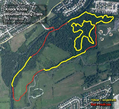Knock Knolls Mountain Biking